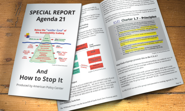 SPECIAL REPORT:  AGENDA 21 AND HOW TO STOP IT