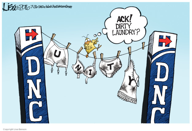 "Donna Brazile air dries DNC ""Dirty Laundry""…"