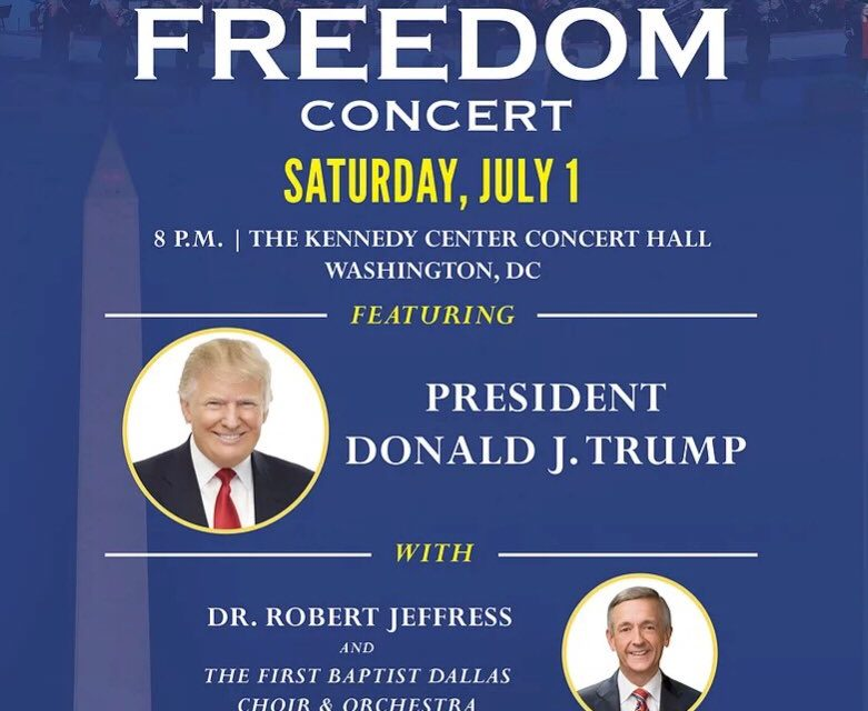 Celebrate Freedom Concert – Pres Trump & Dr Jeffres